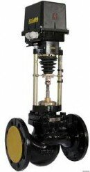 Клапан запорно-регулирующий (КЗР) 25с947нж односедельный, фланцевый, с электрическим исполнительным механизмом (ЭИМ) PN 1,6 МПа